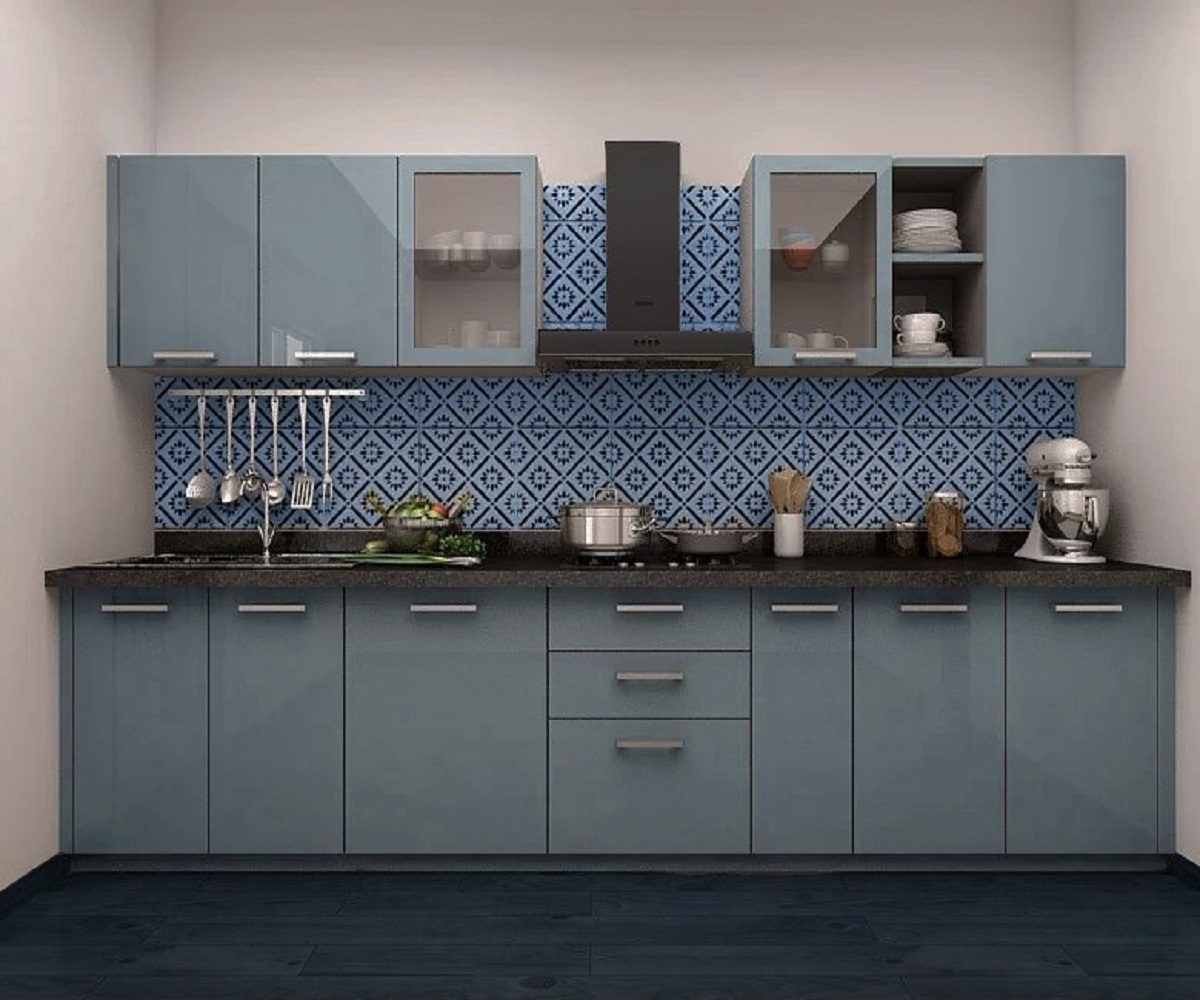 Modular Kitchen Design | Indian Kitchens | Single Platform ...